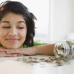 Kobieta z oszczędnościami